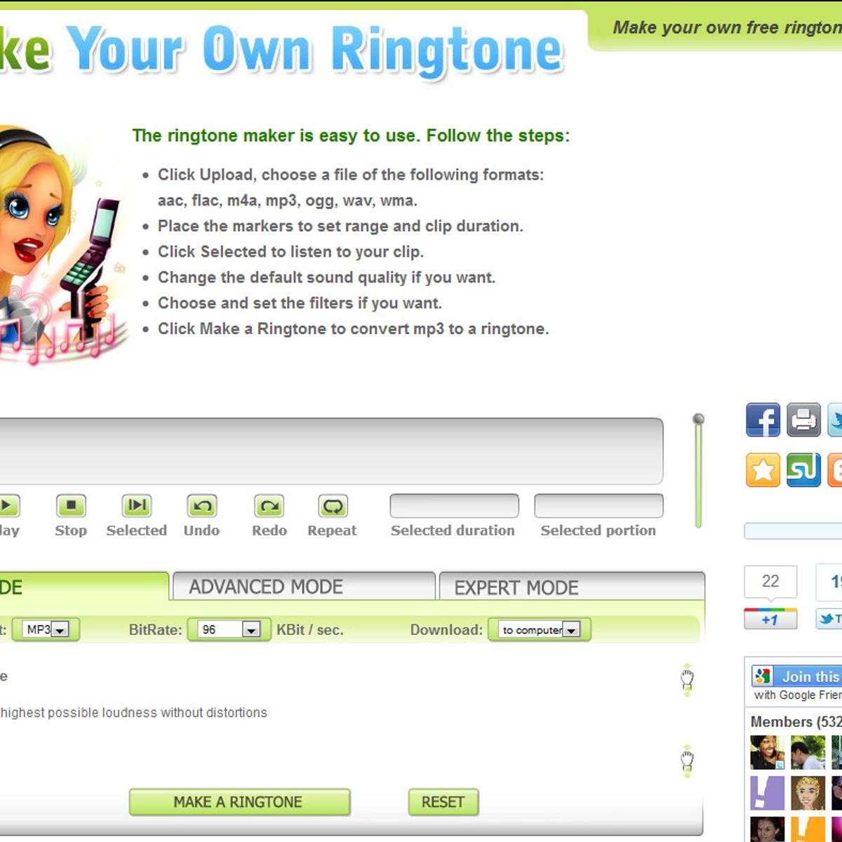 MakeOwnRingtone com Alternatives and Similar Websites and