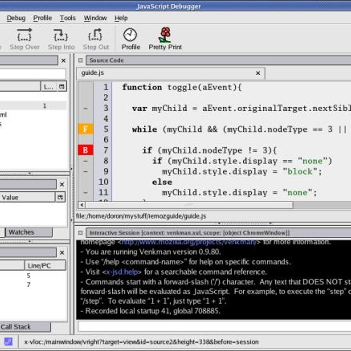 7 Javascript Debugger (Venkman) Alternatives and Similar Software