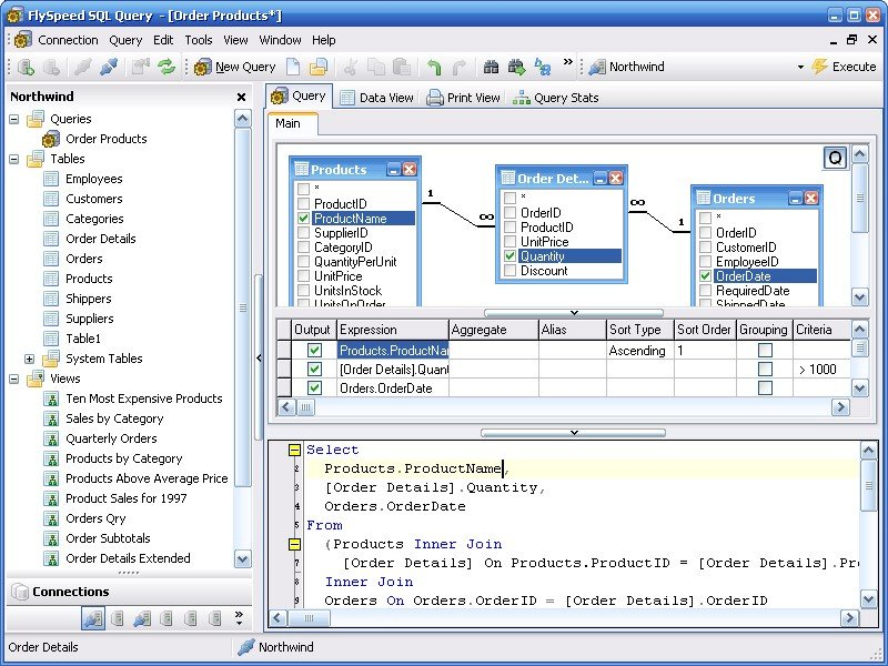 Flyspeed sql query alternatives and similar software for Query design window