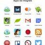 Sample catalogue of business apps integrated icon