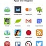 Sample catalogue of business apps integrated