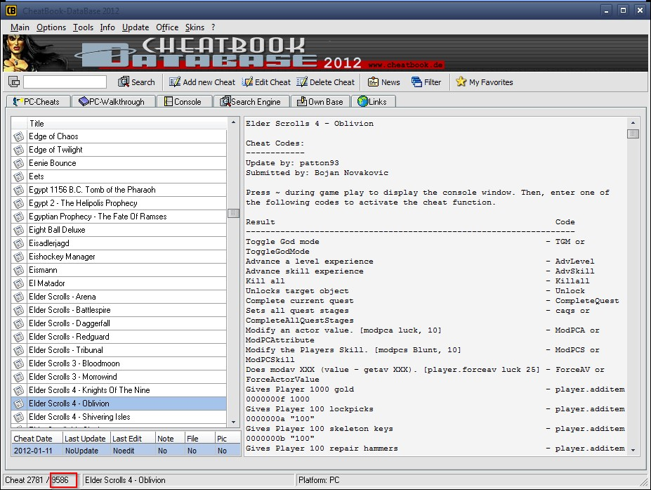 Cheatbook-database download.