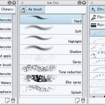 Wide variety of built-in tools, brushes, and effects