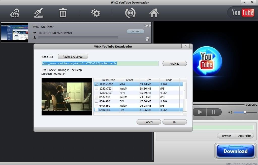 winx you tube downloader