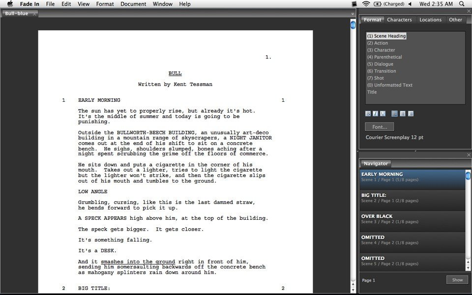 Fade In Professional Screenwriting Software Cracking Forum - staffmemo