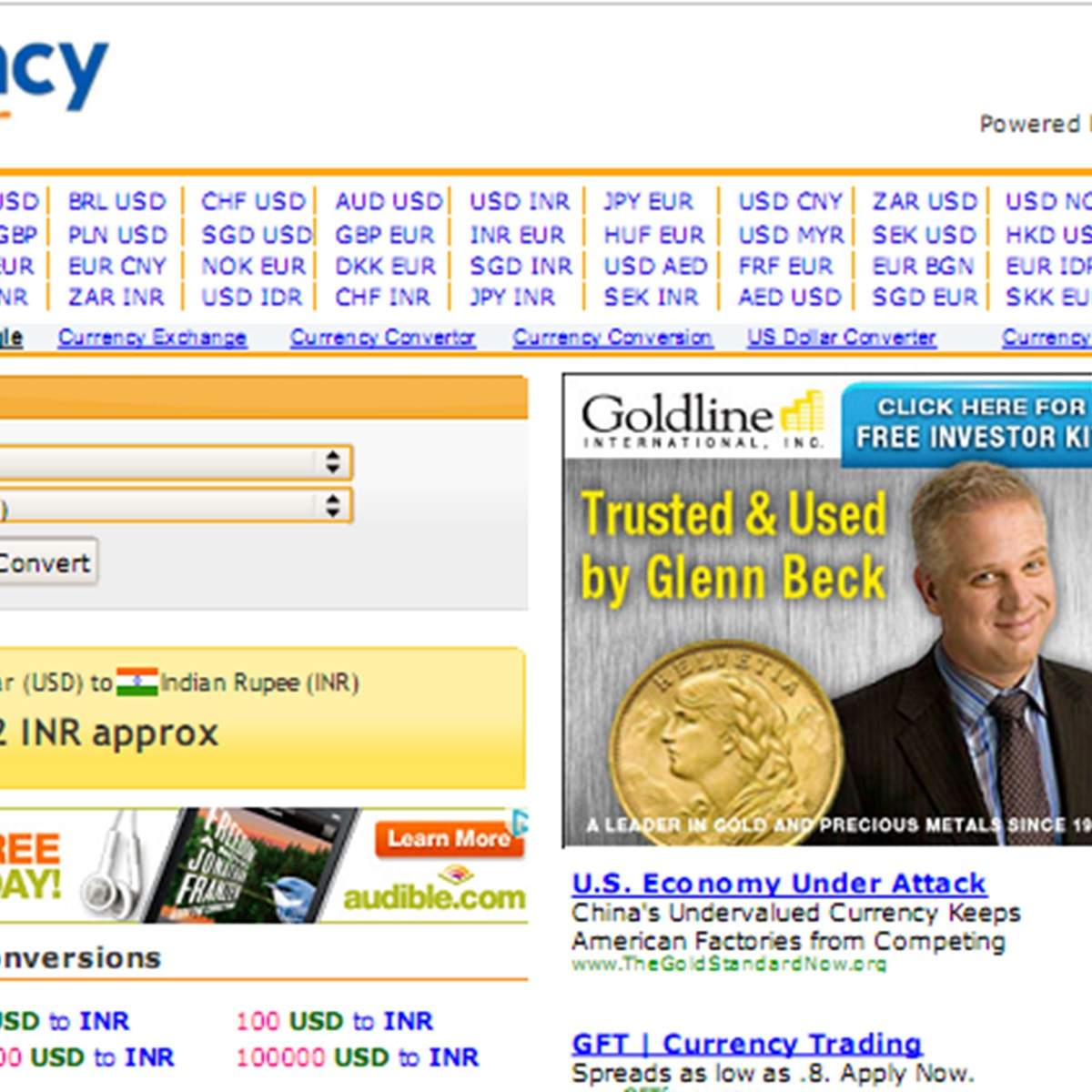 Currency sites
