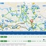 Users can track driver locations and manage routes through the interactive map icon