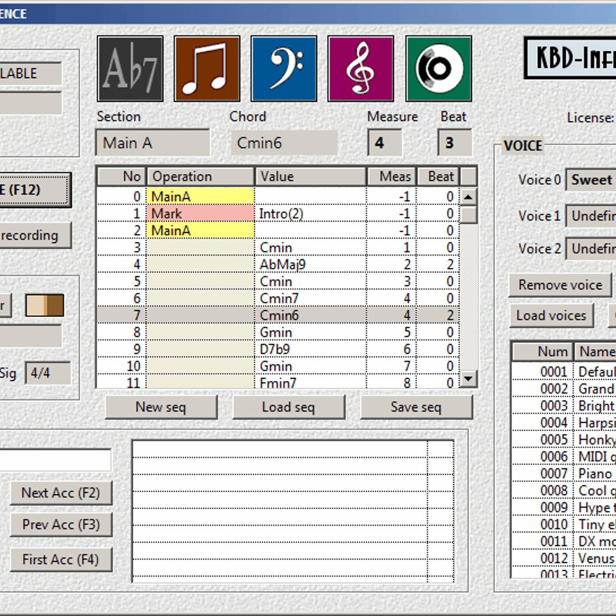 Music auto accompaniment software