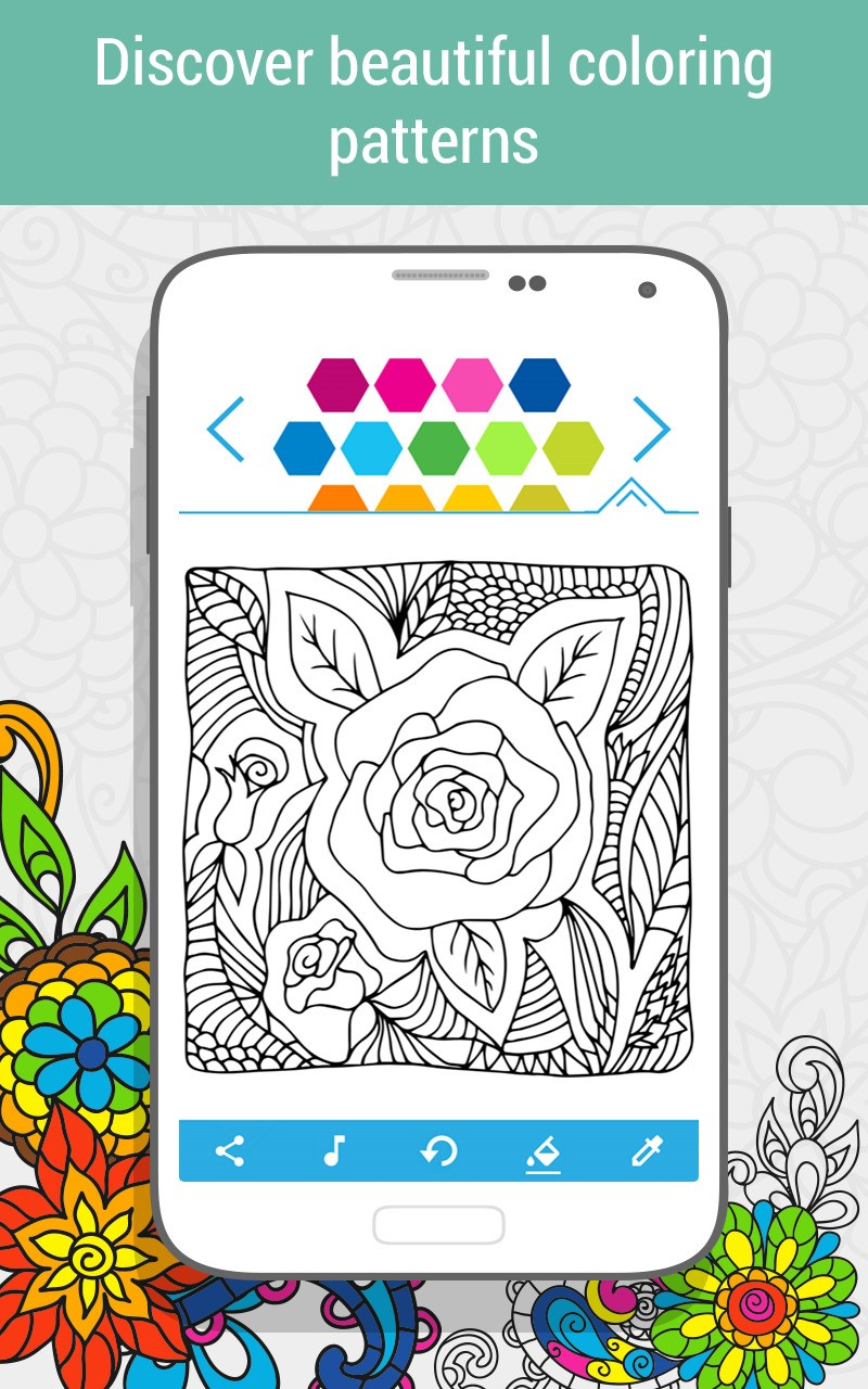 Free windows 10 adult coloring book - Coloring Book Flowers