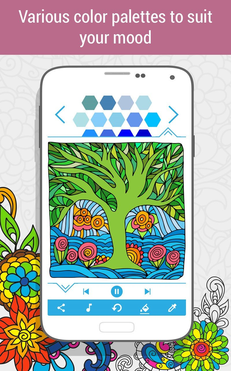 Zen coloring books for adults app - Holicoloring Coloring Book For Adults More App Info