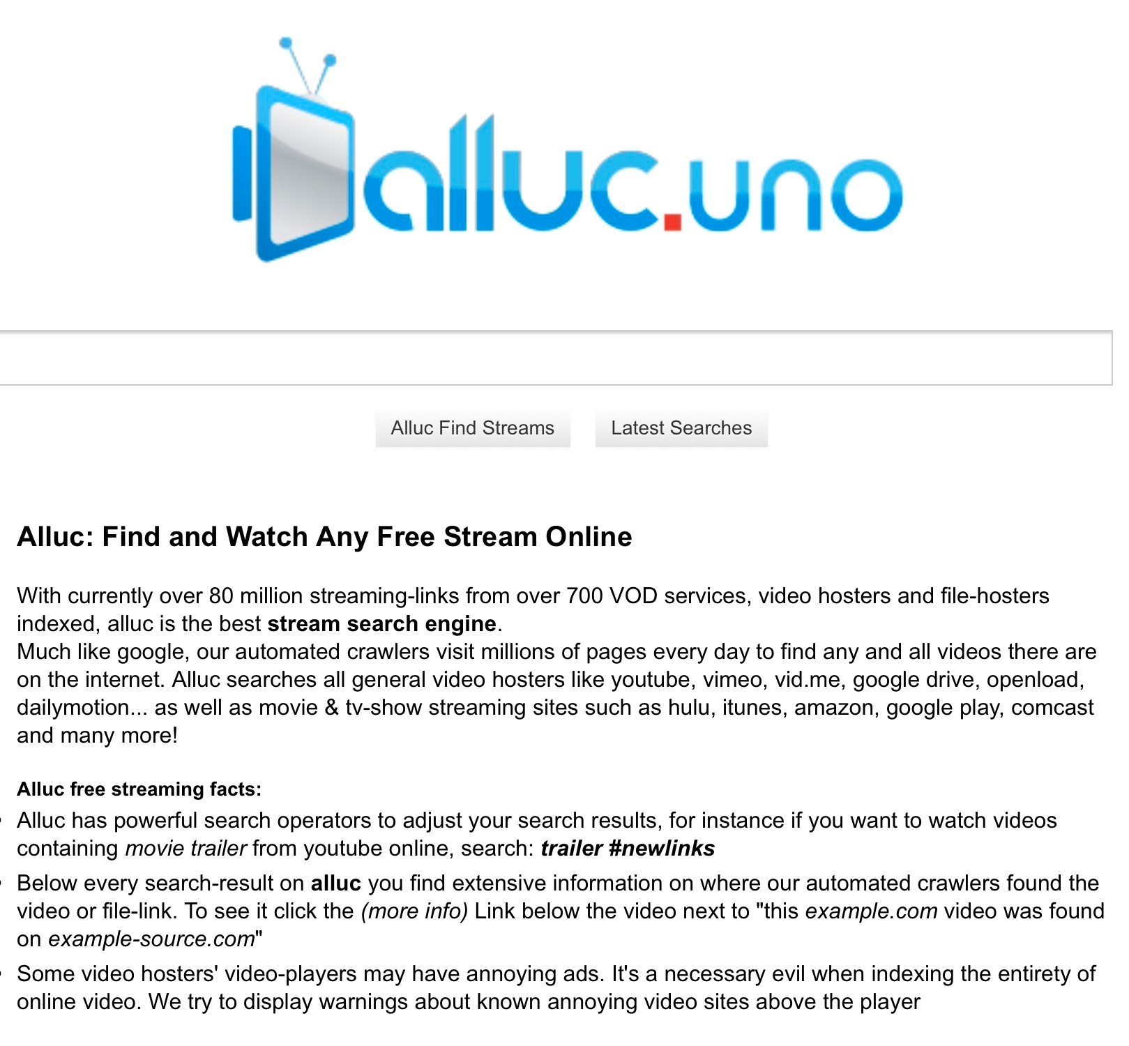 Alluc uno Alternatives and Similar Websites and Apps