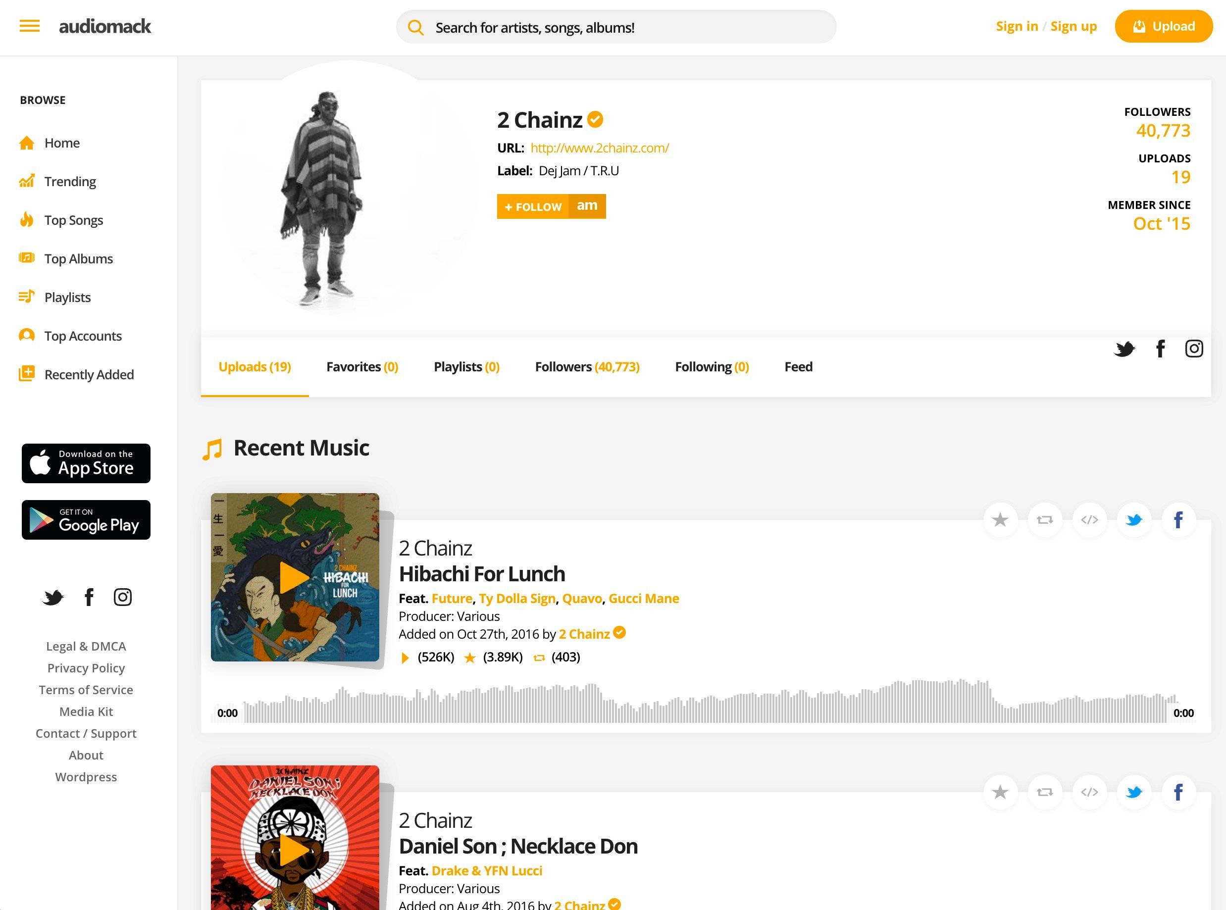 Audiomack Alternatives and Similar Apps and Websites