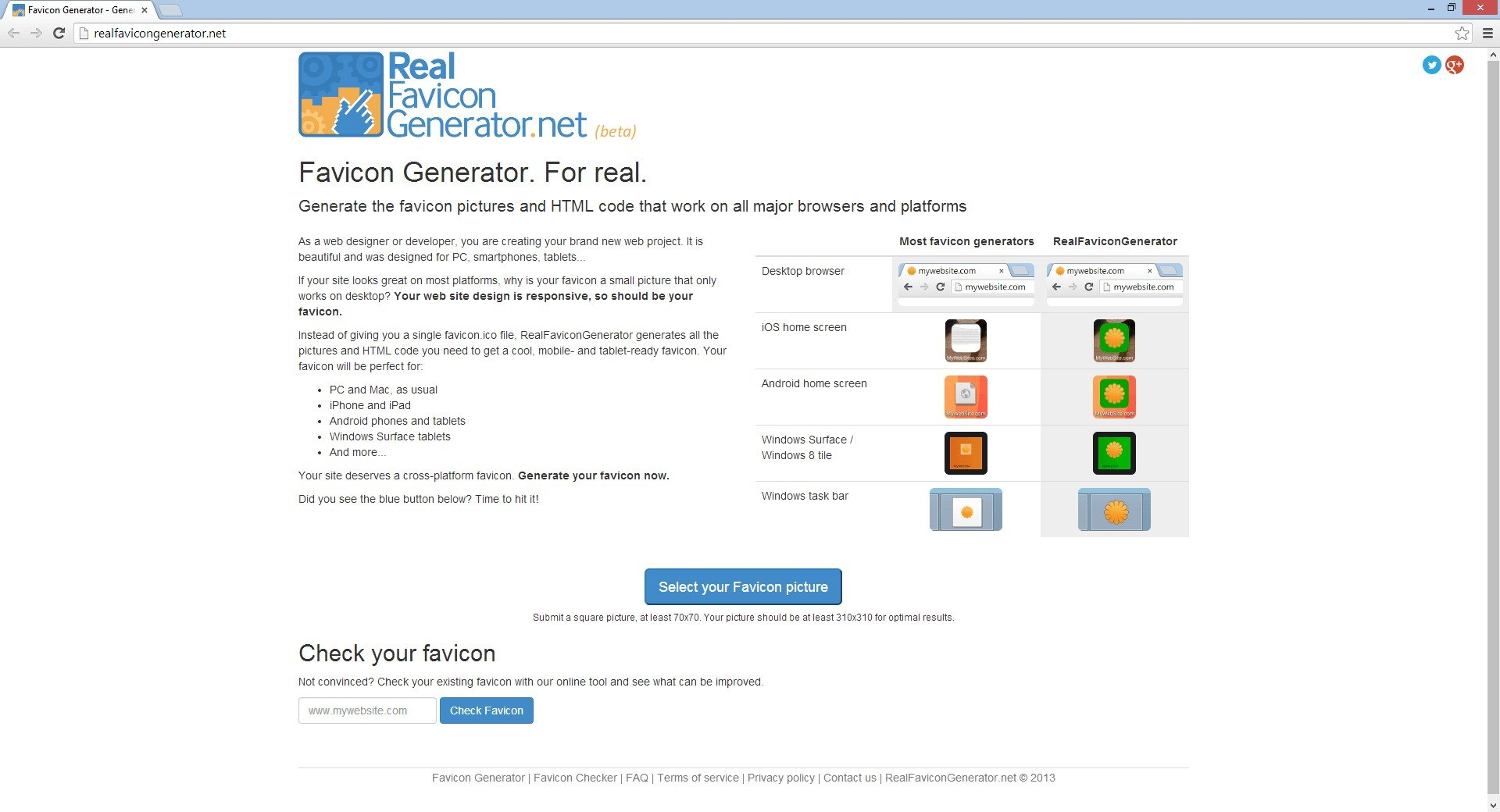 RealFaviconGenerator net Alternatives and Similar Websites