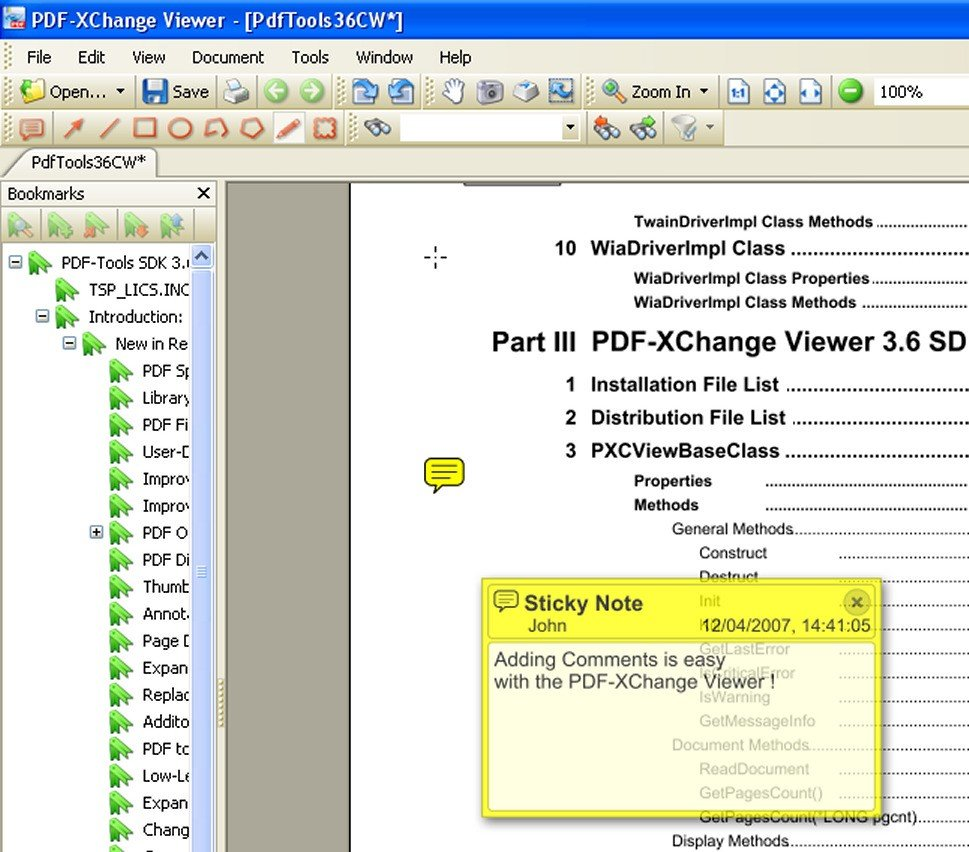 how to put sticky note on adobe dc pdf