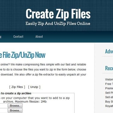 Create Zip Files Alternatives and Similar Websites and Apps