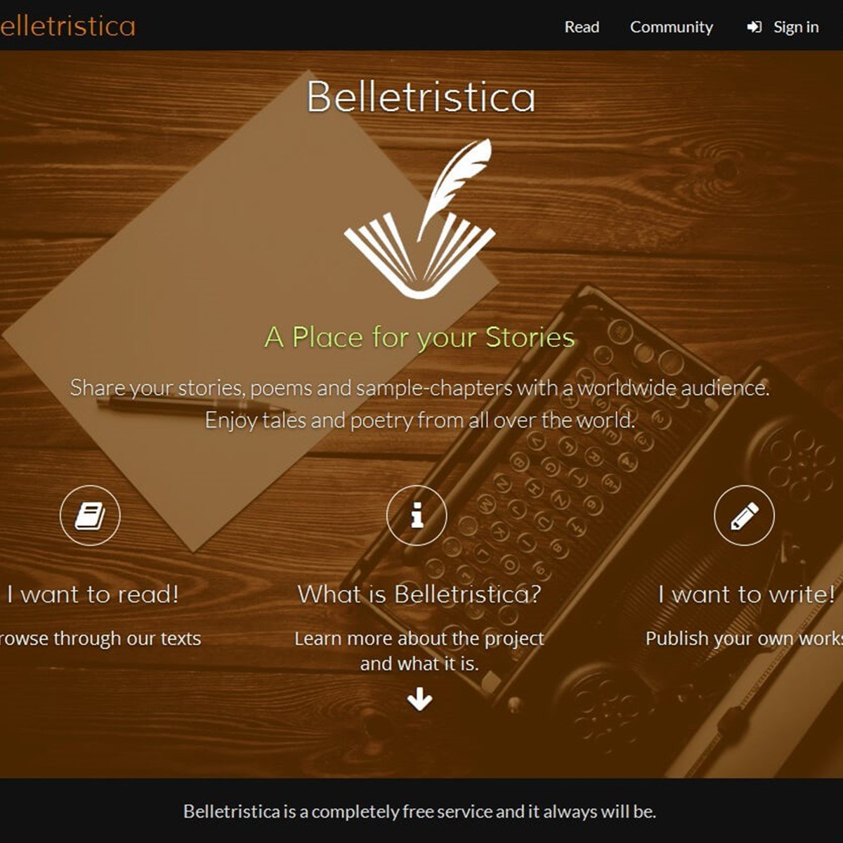 Belletristic writing a book