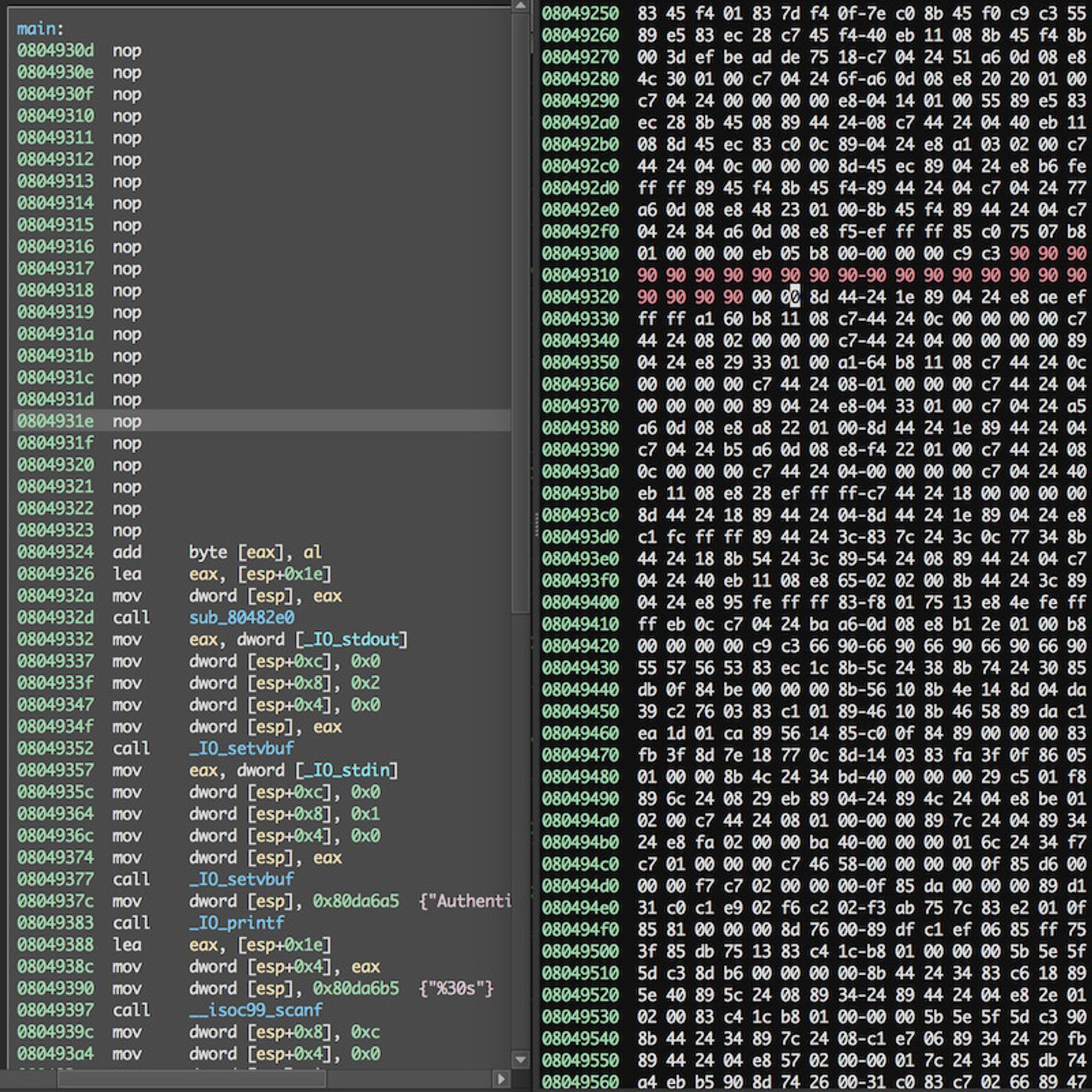 Add options to binary file