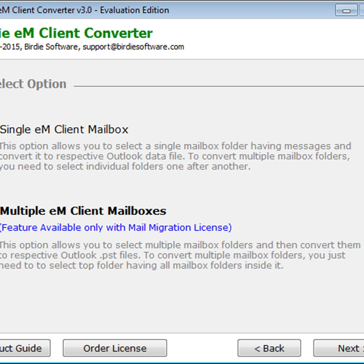 Birdie eM Client Converter Alternatives and Similar Software