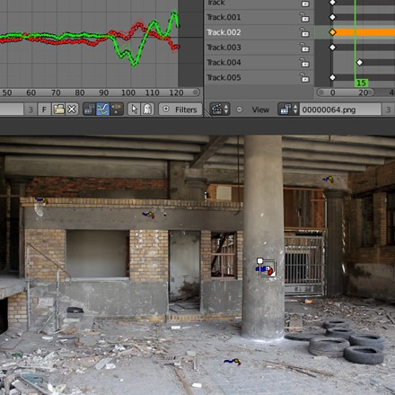 Blender includes production ready camera and object tracking. Allowing you to import raw footage, track the footage, mask areas and see the camera movements live in your 3d scene. Eliminating the need to switch between programs.