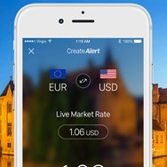 Create exchange rate alerts