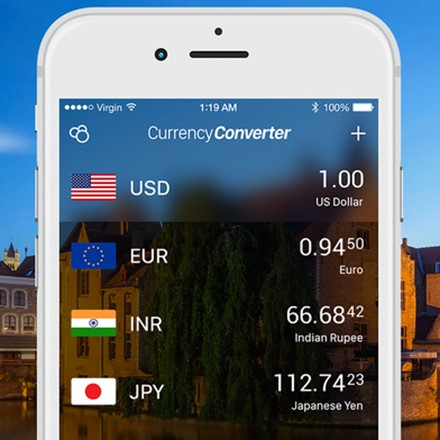 Fast and easy-to-use currency converter on the go
