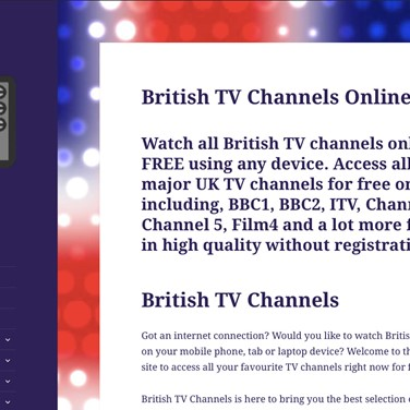 British TV Channels Alternatives and Similar Websites and