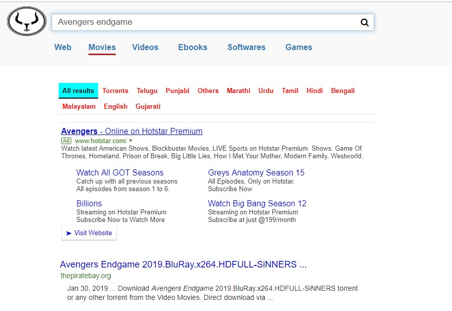 video search and download engine