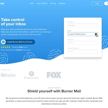 Burner Mail Alternatives and Similar Software