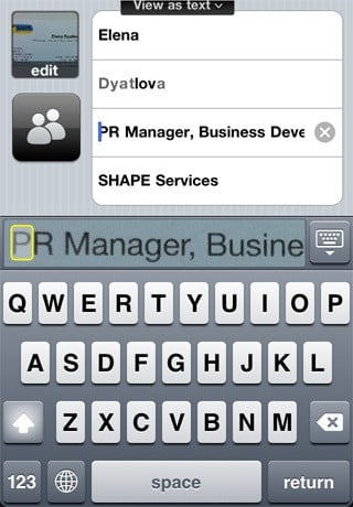 Shape business card reader alternatives and similar software iphone 2 colourmoves Choice Image