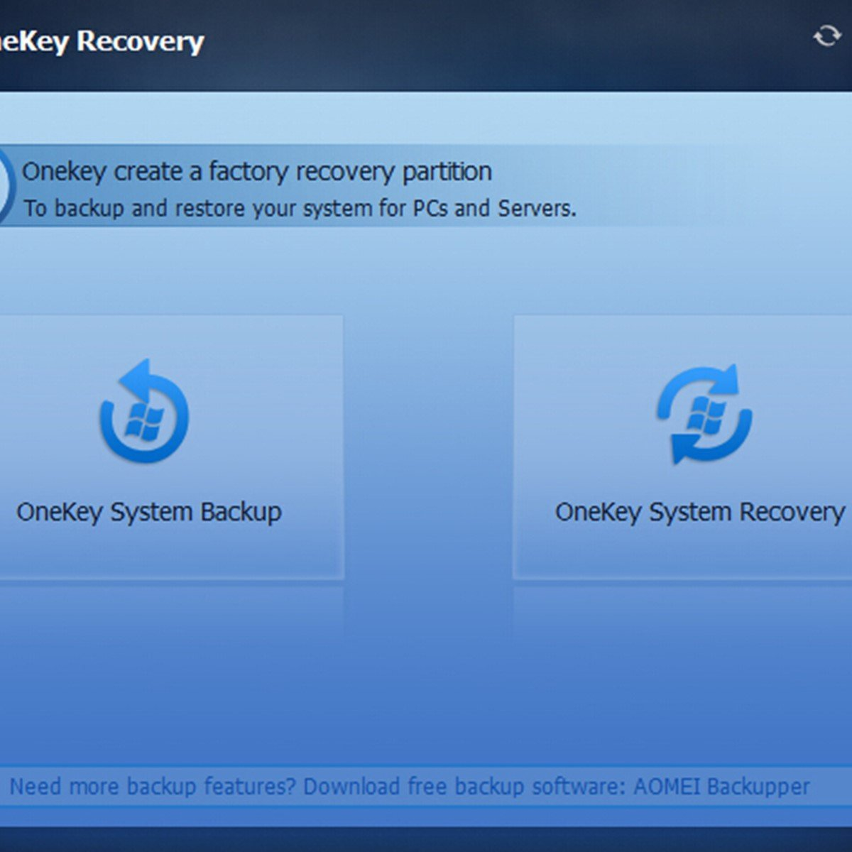 AOMEI OneKey Recovery Alternatives and Similar Software