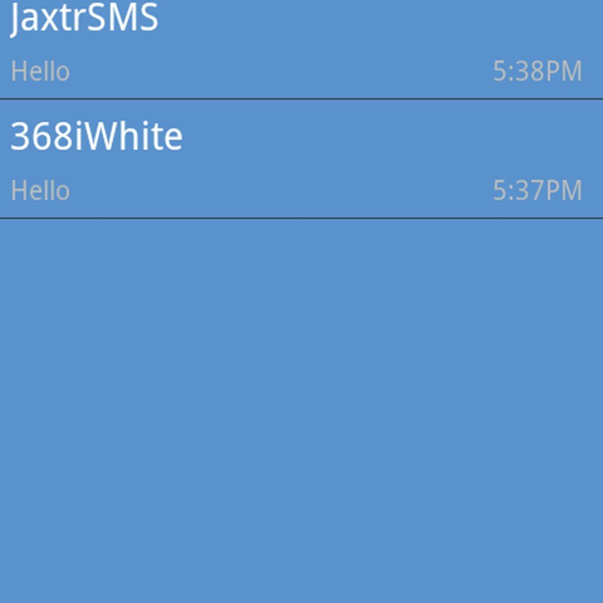 Jaxtrsms sends free text messages to any mobile number in the world.