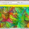 Global Mapper performing watershed delineation