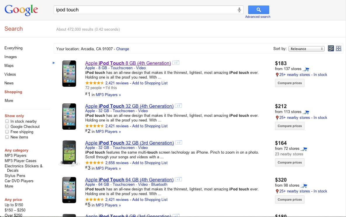 Google Product Search Alternatives and Similar Websites and