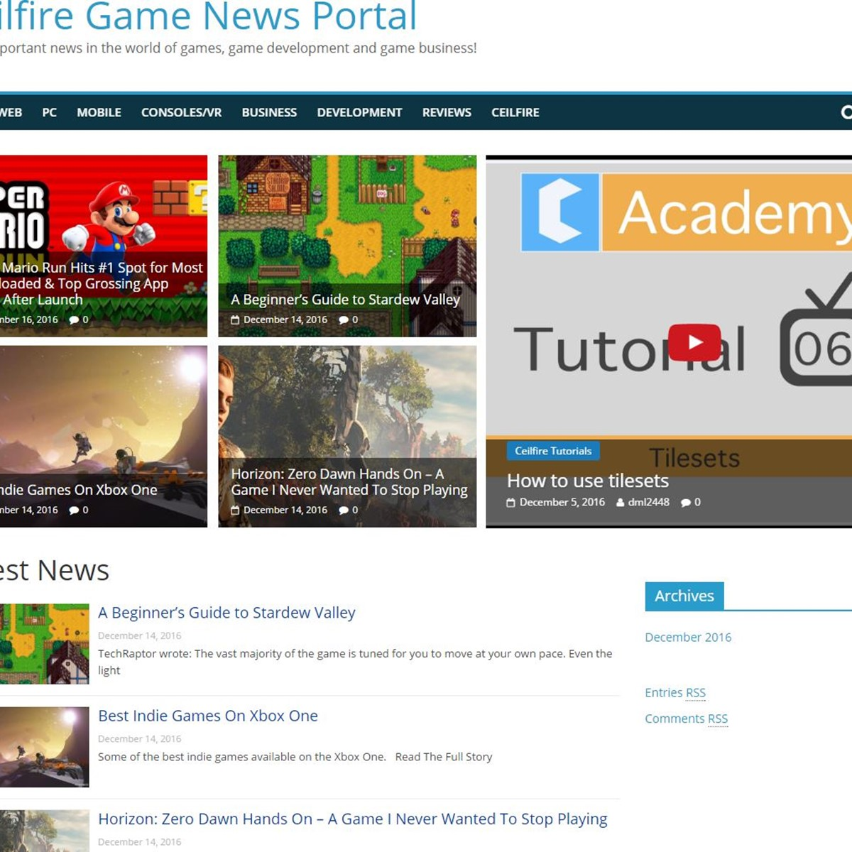 Ceilfire Game News Portal Alternatives and Similar Websites