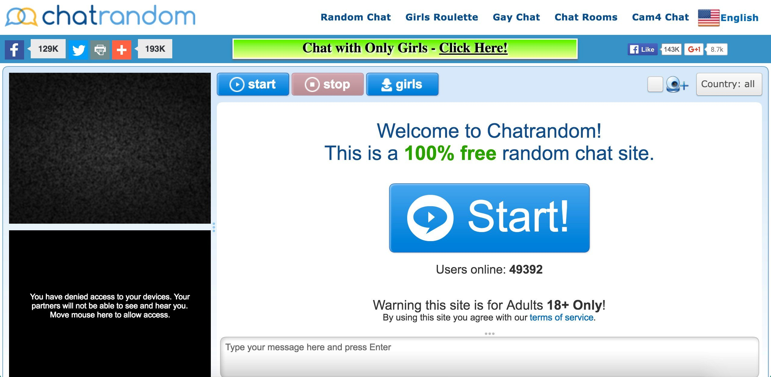 websites like chatrandom