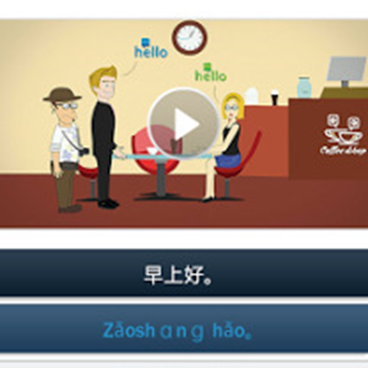 how to say hello in chinese on the phone