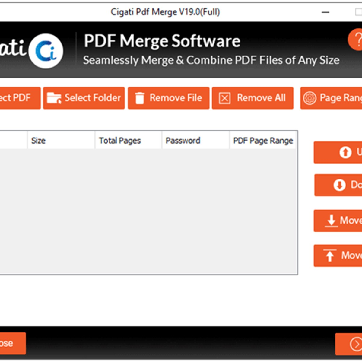 Merge files pdf