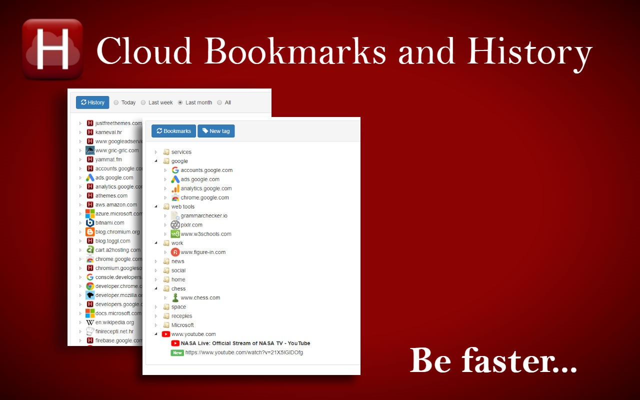 Cloud Bookmarks and History Alternatives and Similar