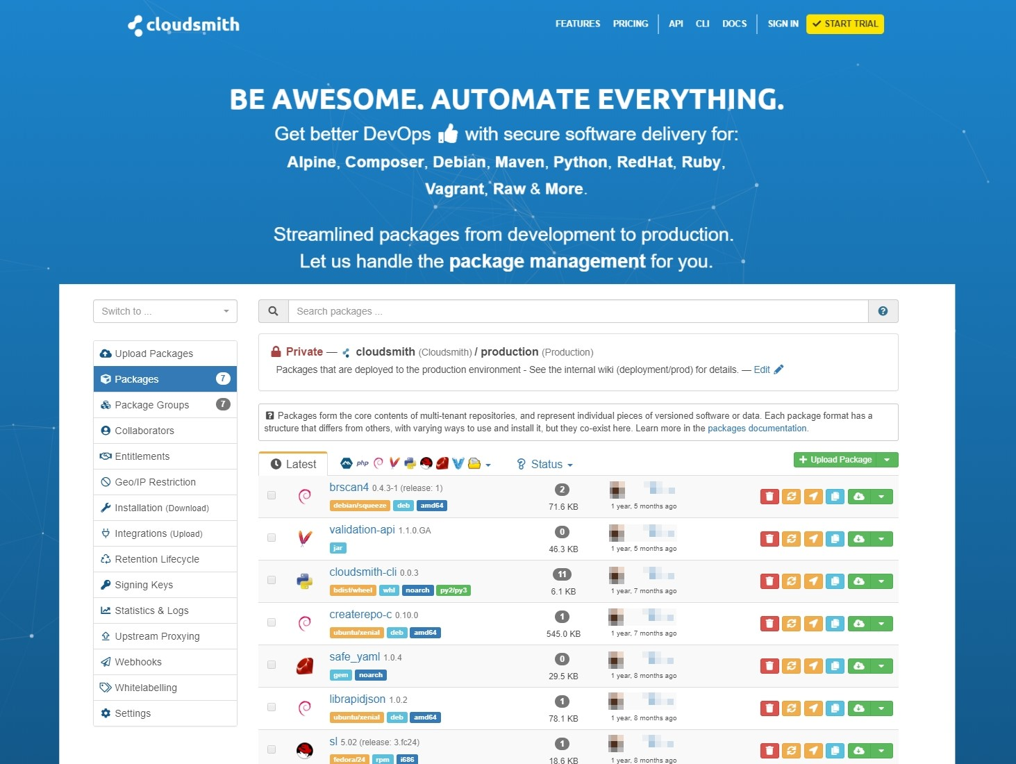 Cloudsmith Alternatives and Similar Websites and Apps