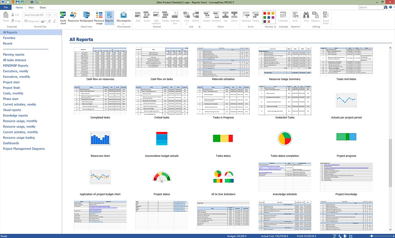 Conceptdraw project alternatives and similar software gantt chart view create reports nvjuhfo Image collections