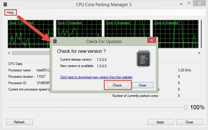 core parking manager 45 free download