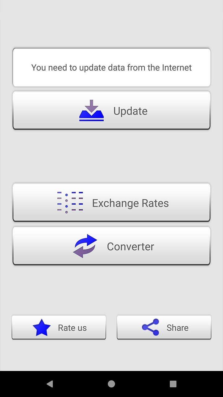 Exchange Rates And Calculator Offline In Our Activity Log It S Possible To Update The Information On Currency Converter