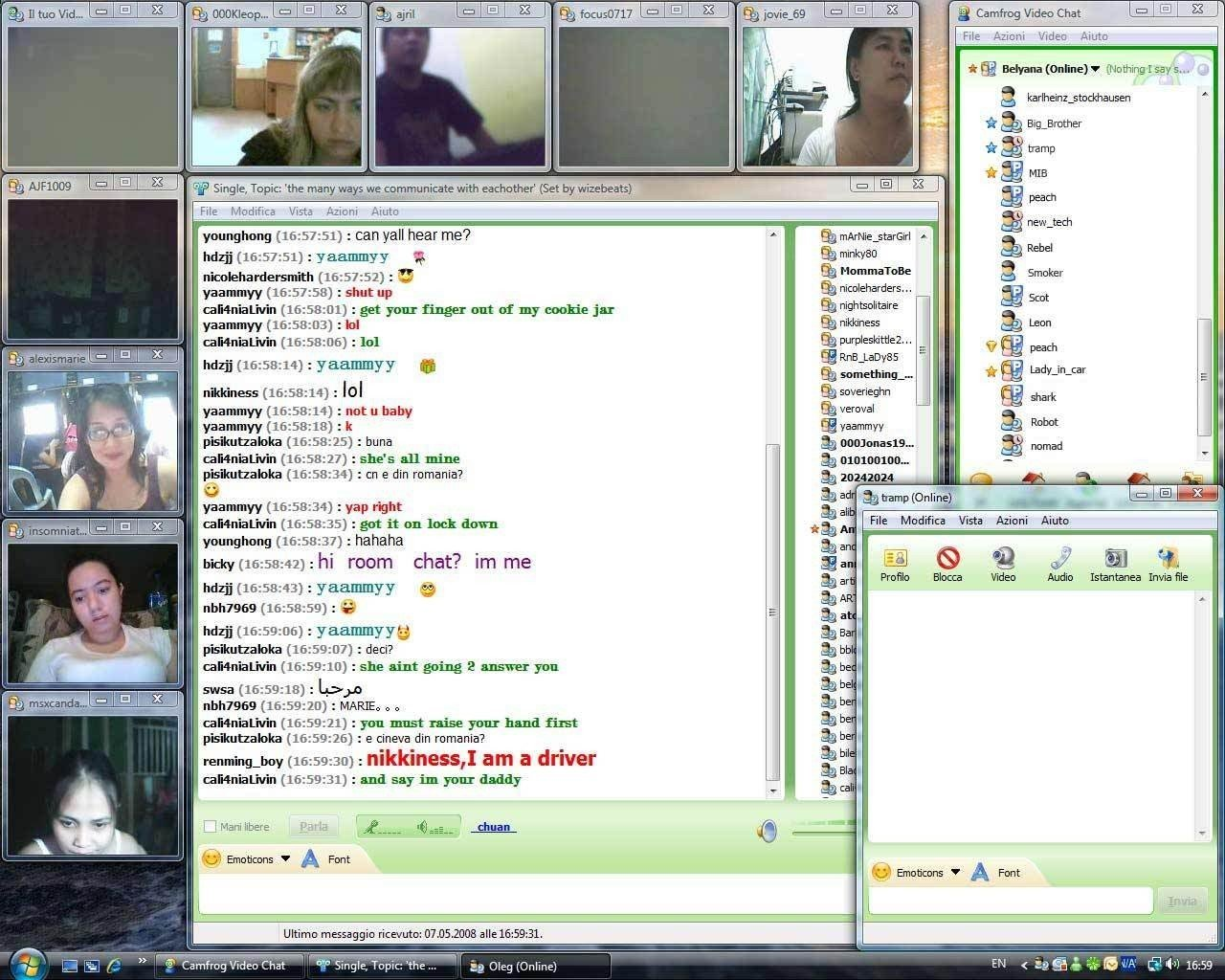 chat rooms with web cam