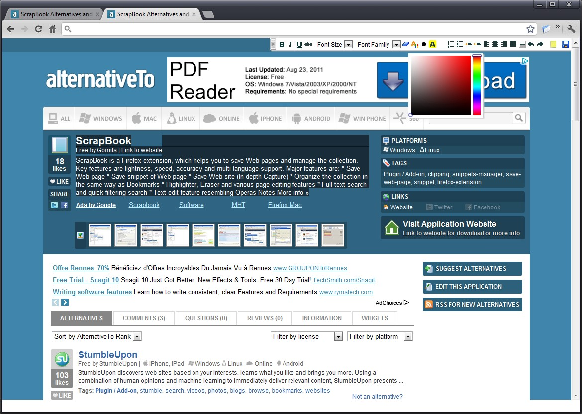How to use scrapbook in firefox - Tags