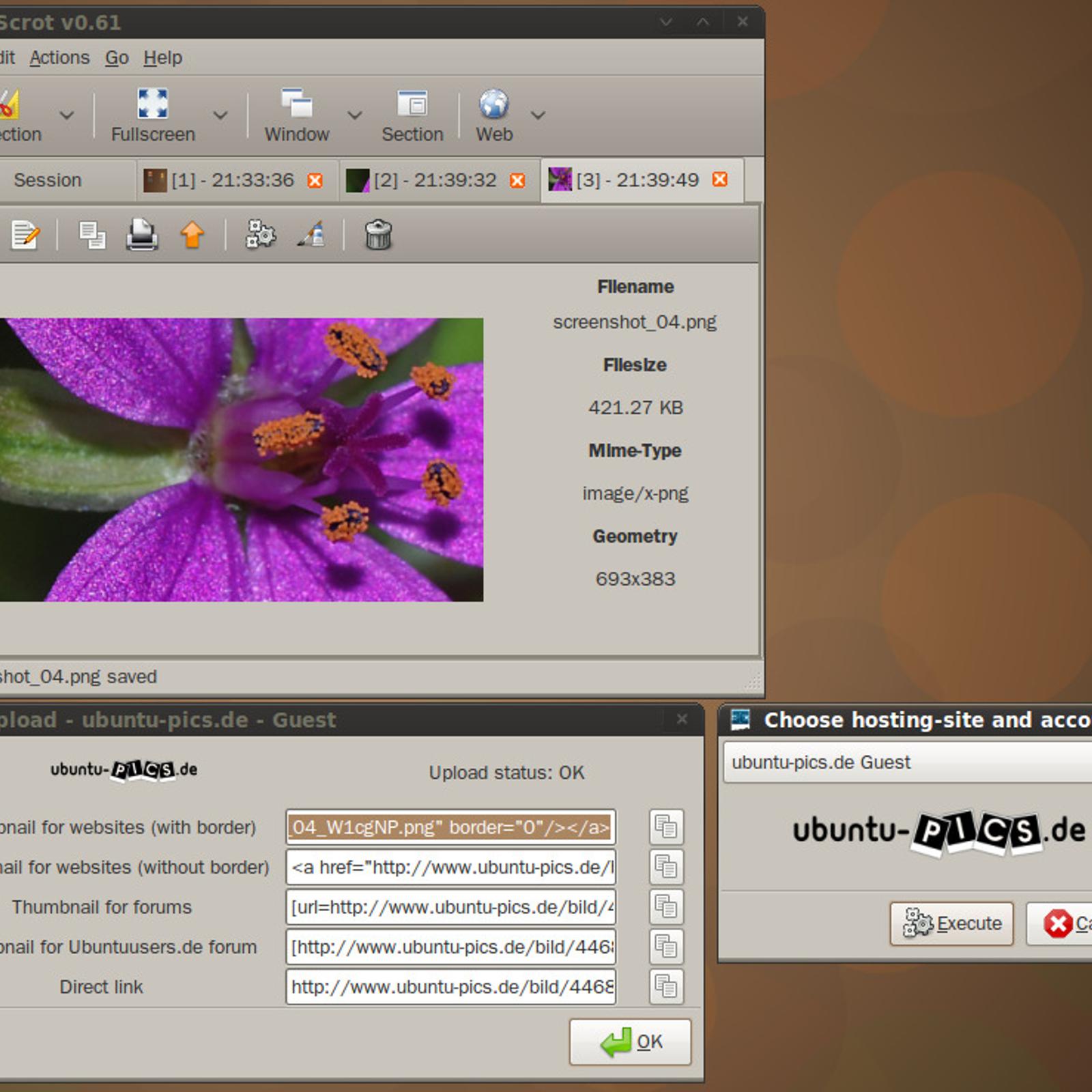 linux screen cut tool