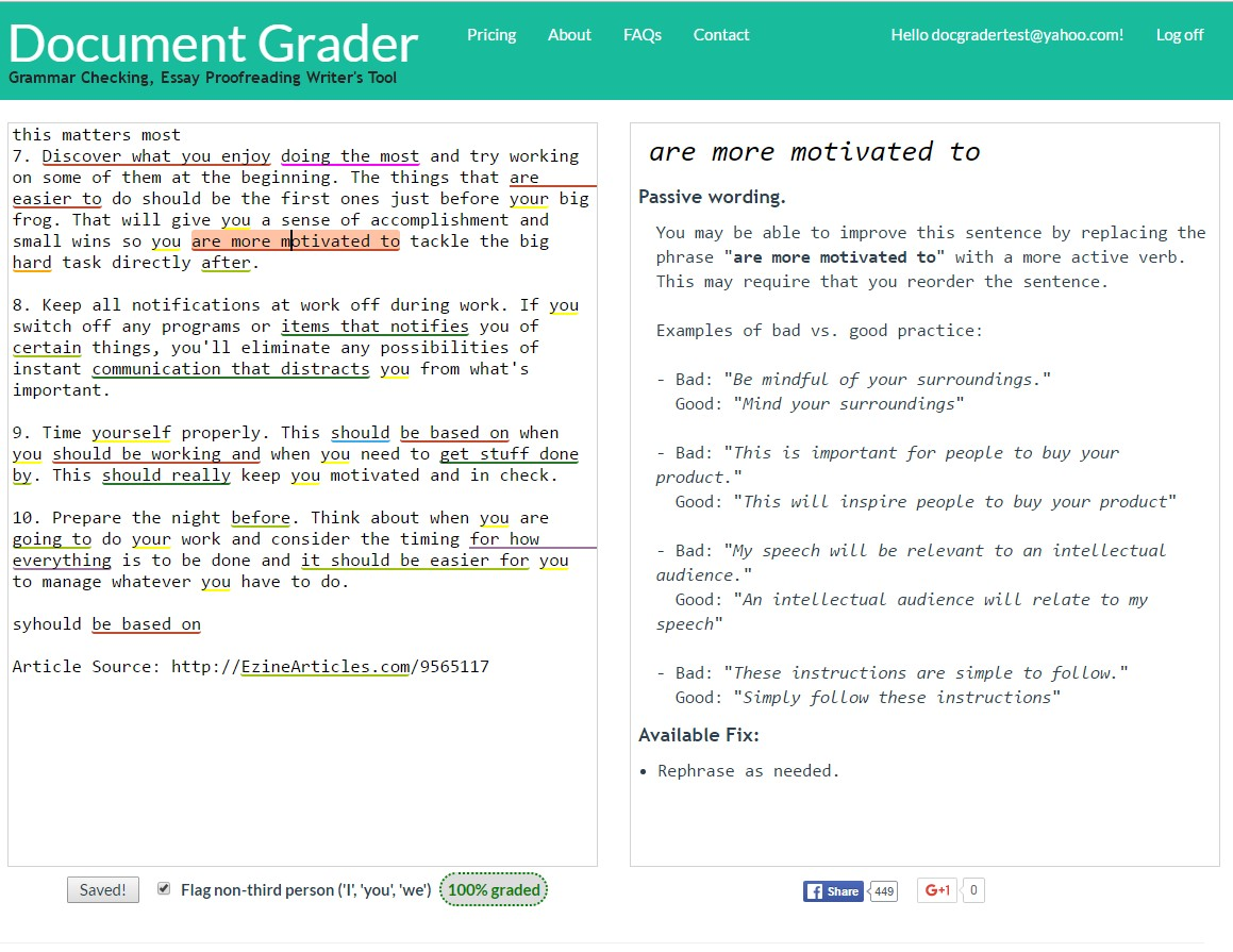 automated essay grammar review system