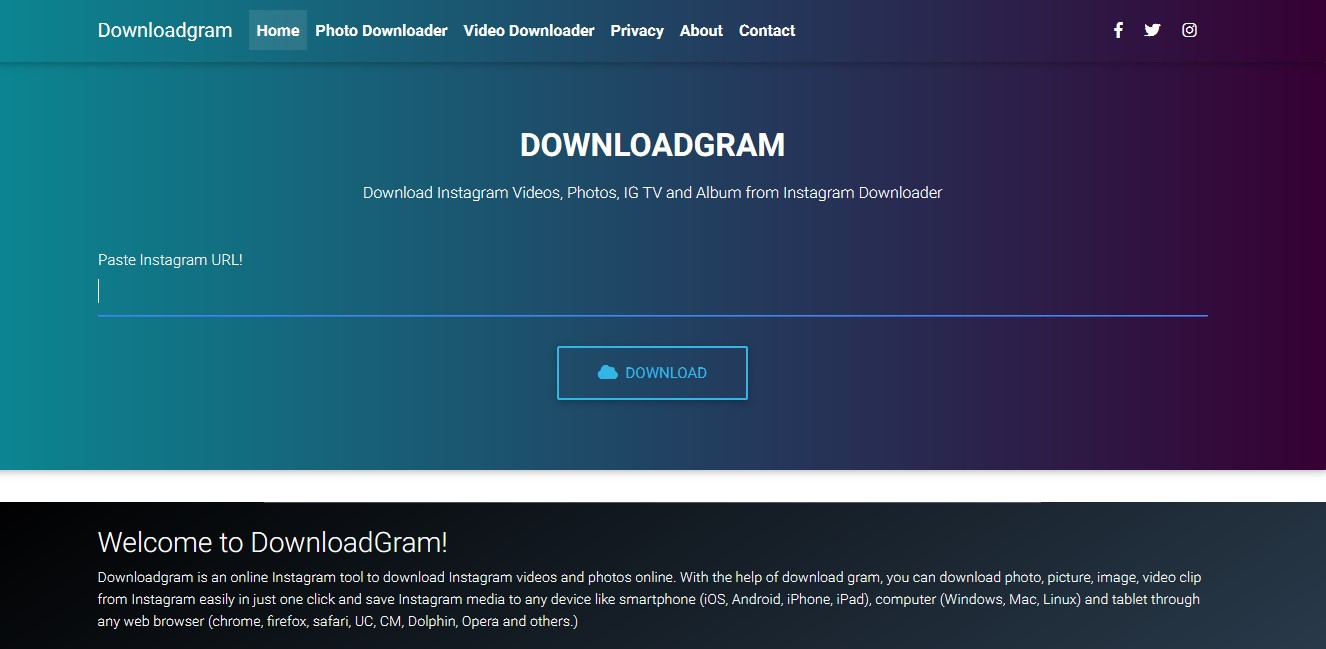 Downloadgram org Alternatives and Similar Websites and Apps