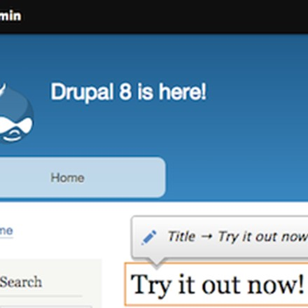 Drupal 8 in action. Showing in-context editing and previews (WYSIWYG)