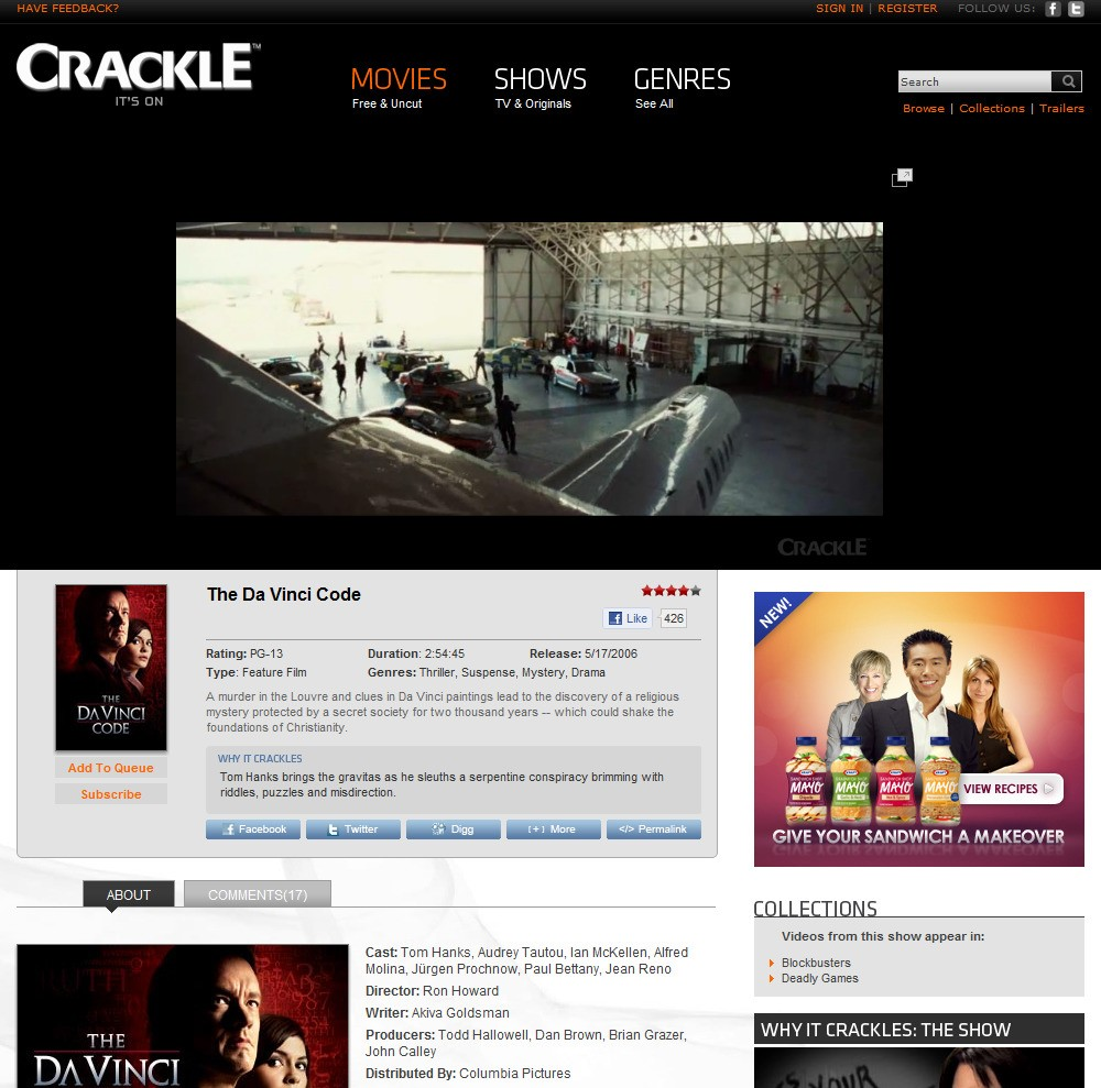 Crackle Alternatives and Similar Apps and Websites