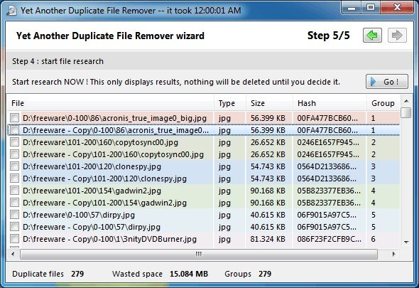 yet another duplicate file remover